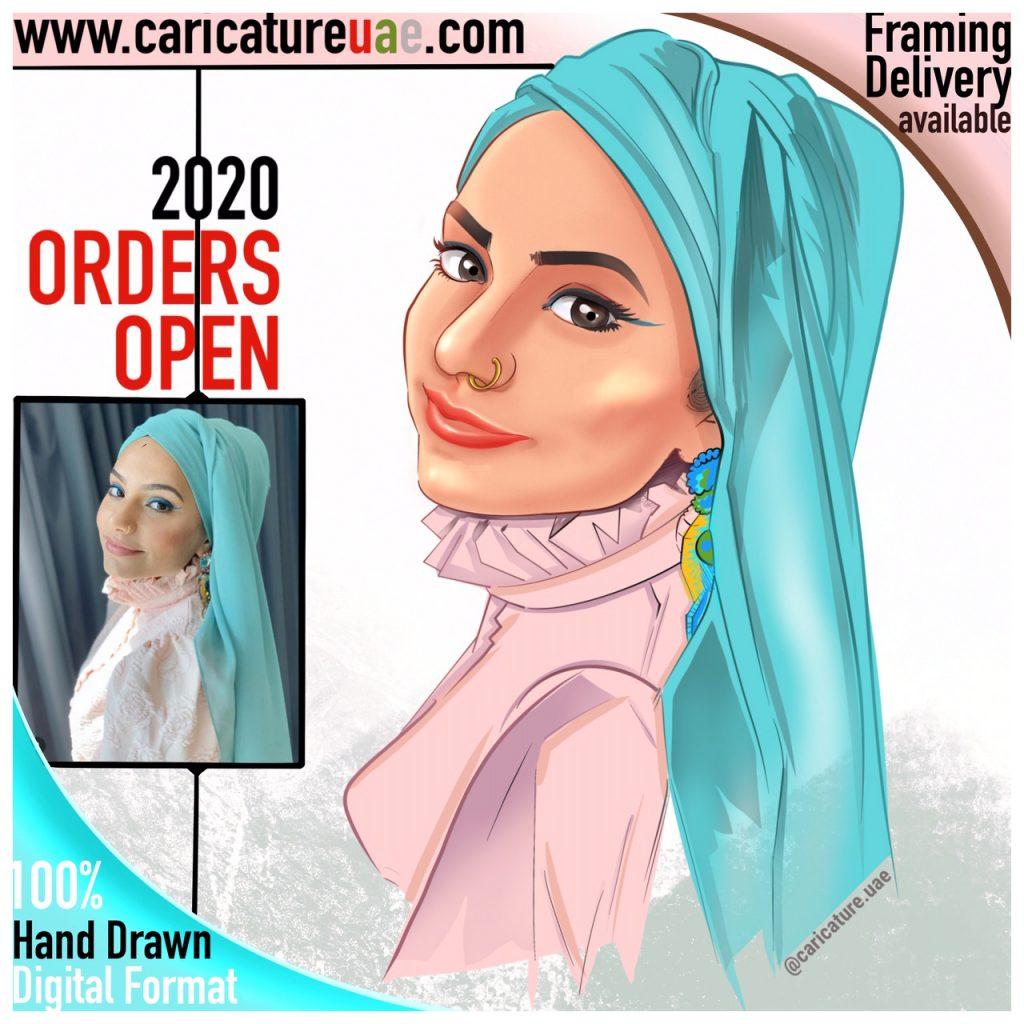 order caricature in UAE