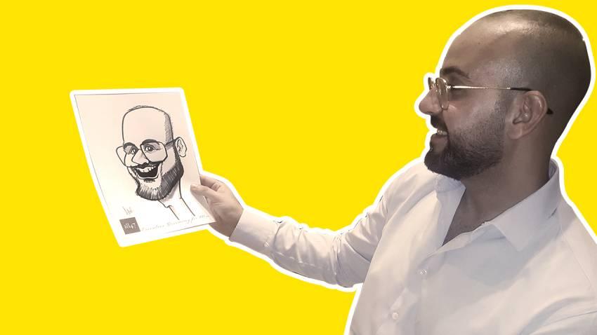 hire caricaturist dubai