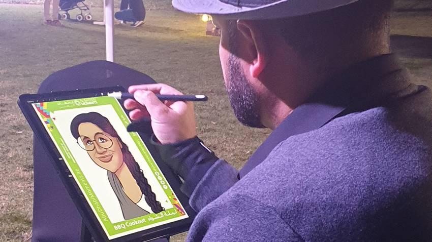 caricature artist uae