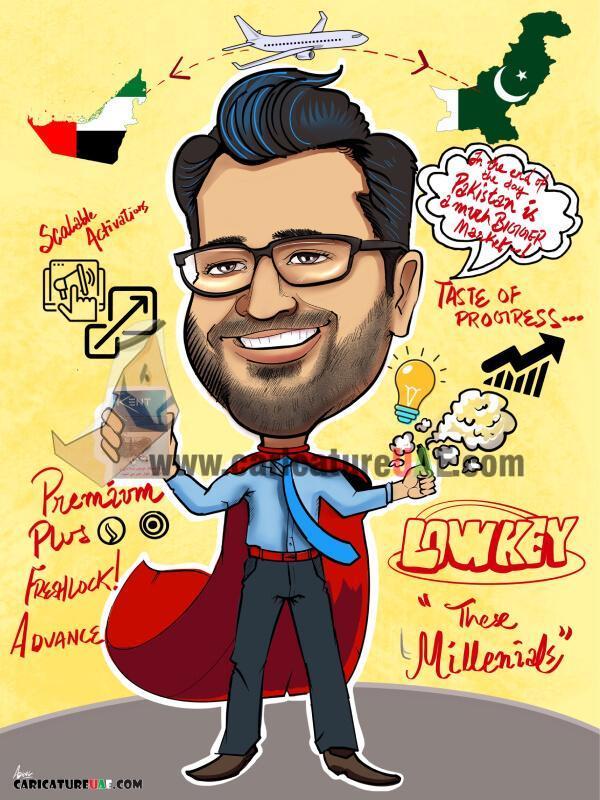 perzonized caricature online dubai