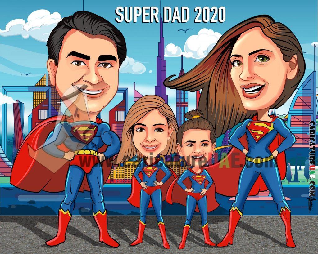 superman caricature online uae