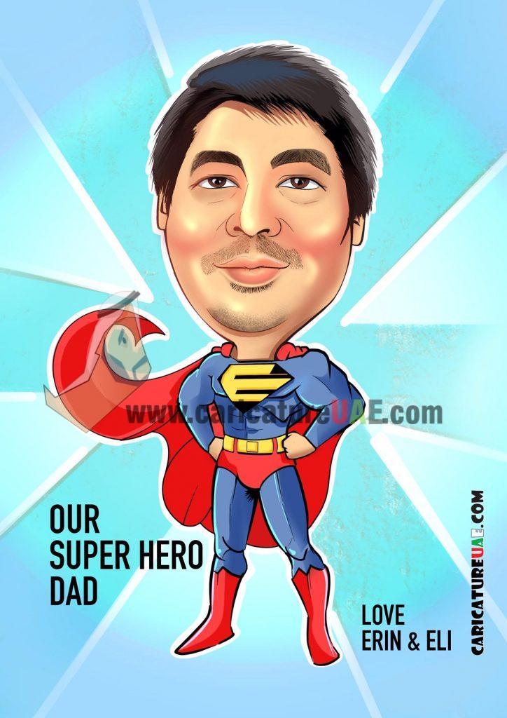 superhero caricature uae